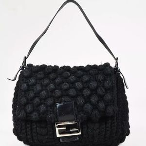 Handbags - 🔥SOLD🔥* Fendi knit and leather bag